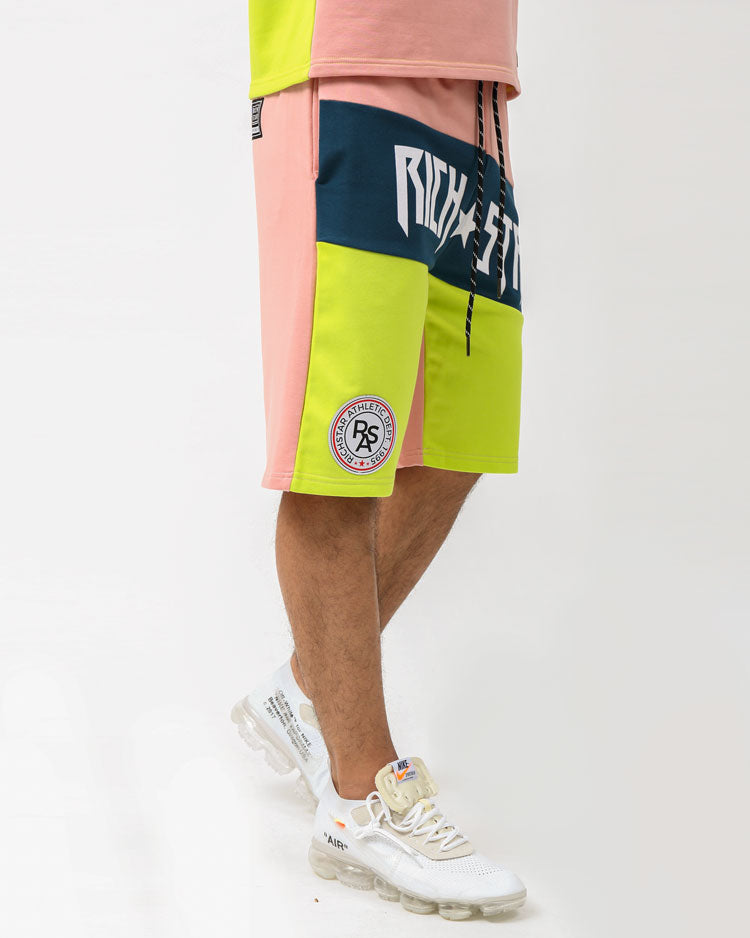 MOSTER SPORT SHORTS-COLOR: PINK
