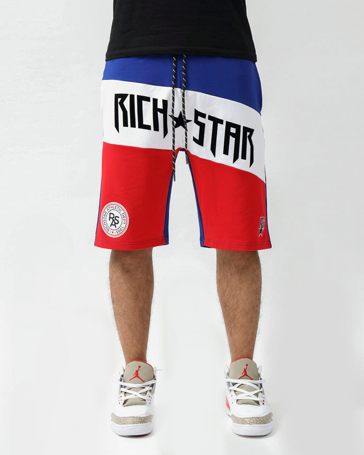 MOSTER SPORT SHORTS-COLOR: ROYAL BLUE