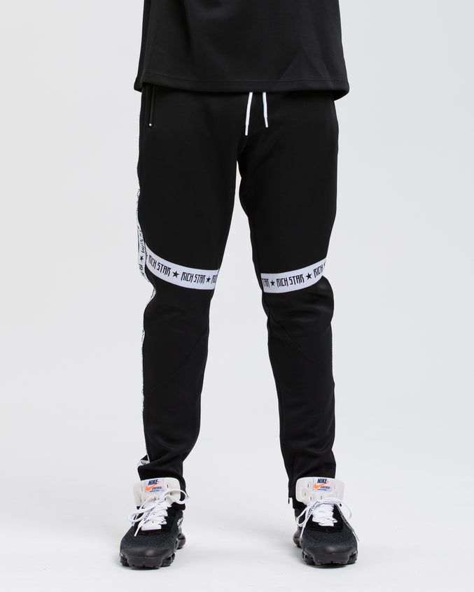 Logo Tape Color Block Track Pant - Color: BLACK