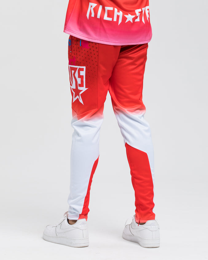 Moto Paintball Track Pant - Colors: RED | Red