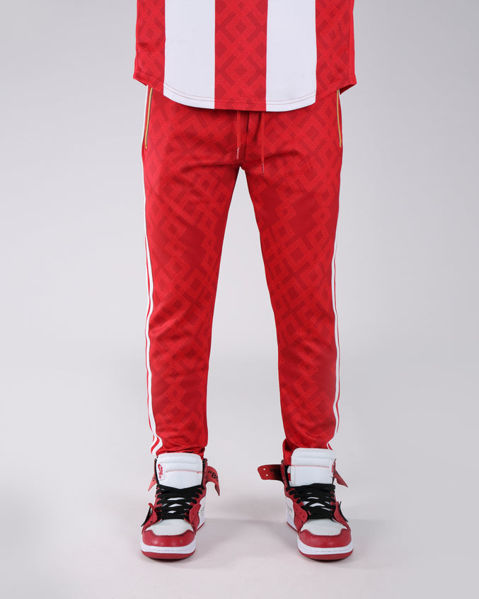 Rich Star Golden Track Pant - Color: RED