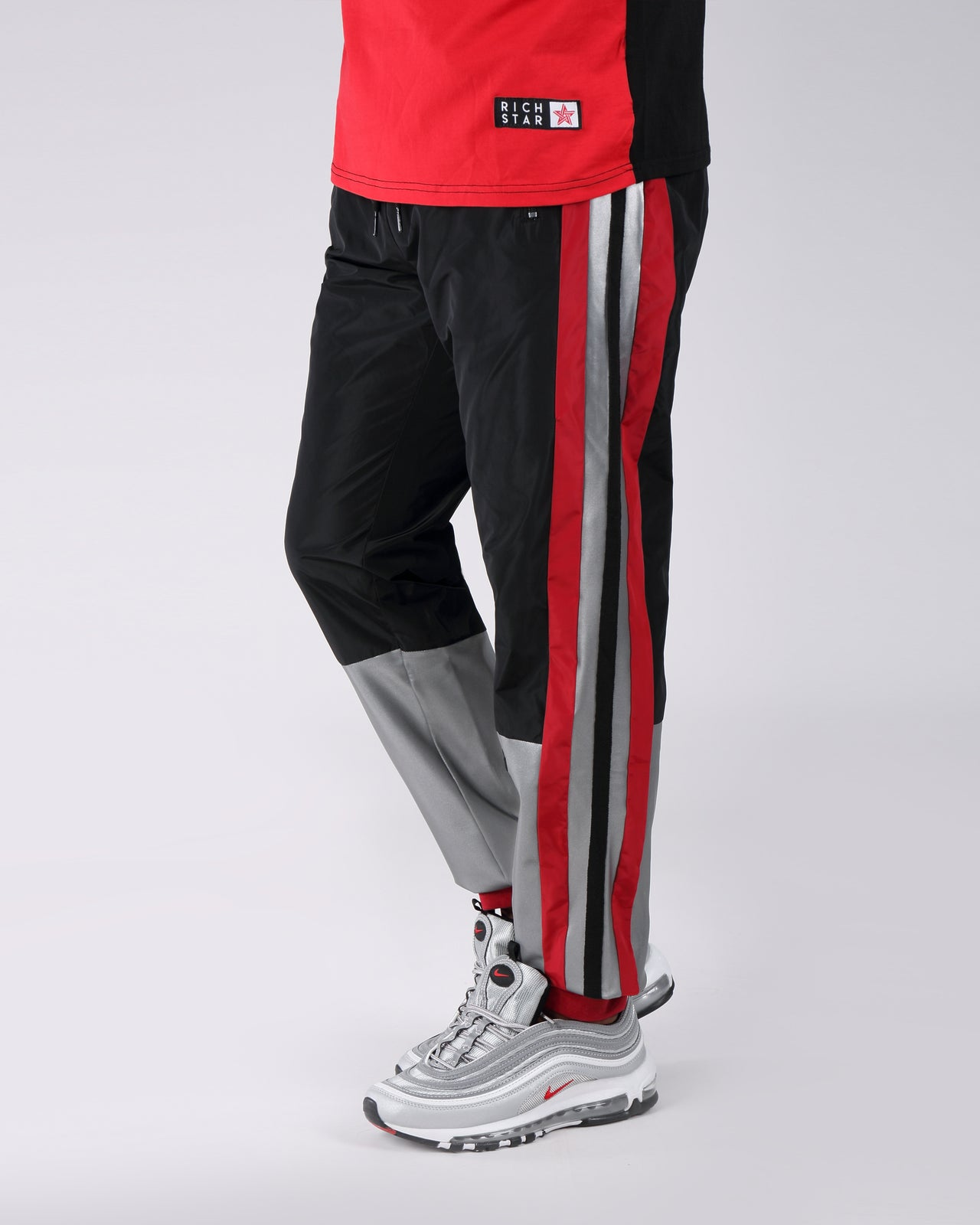 Sport Color Block Track Pant - Color: RED | Red