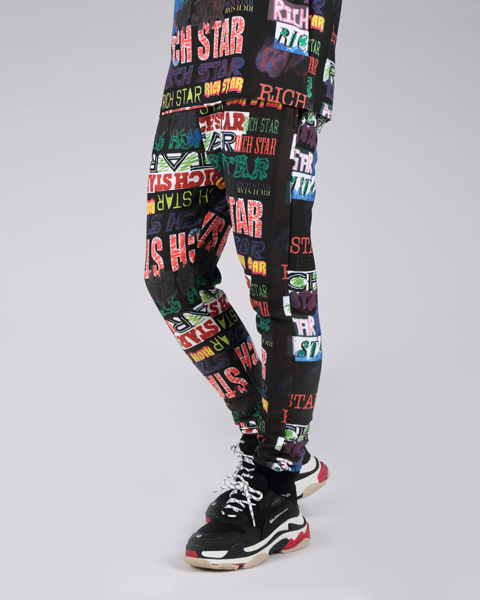 Rich Star Allover Jogger Pant - Color: MULTI COLOR