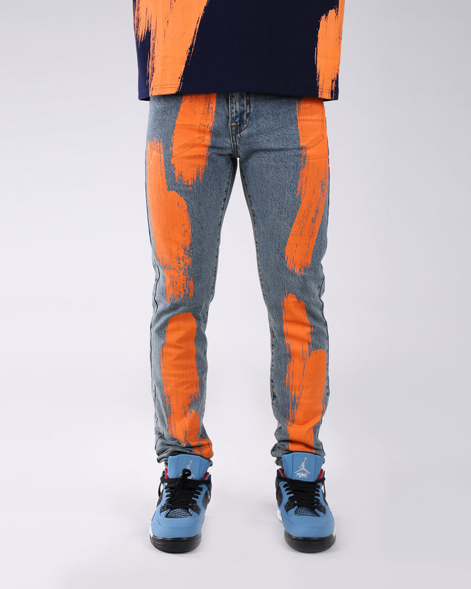 Painted Denim Pant - Color: RAW INDIGO | Blue