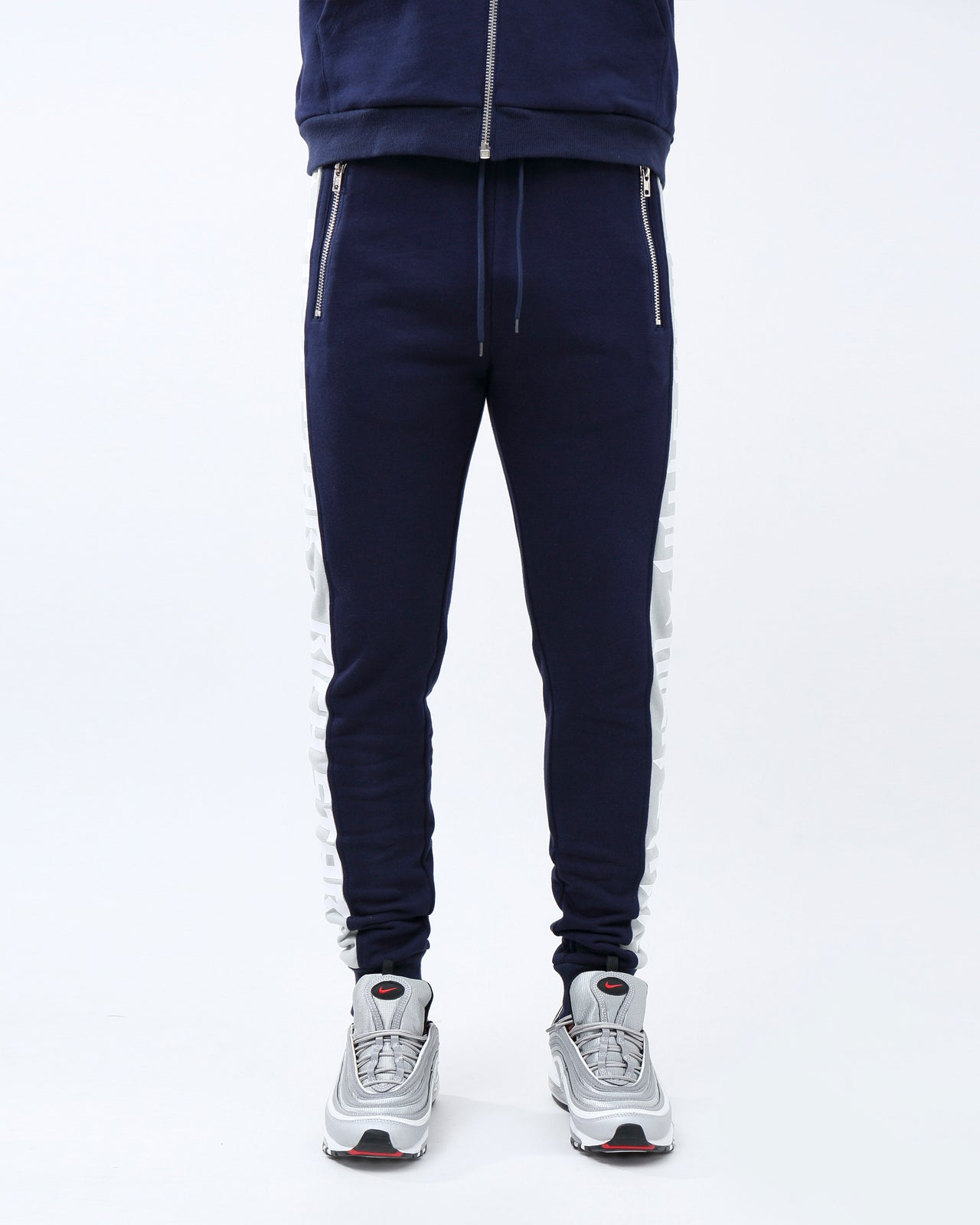 Big Side Logo Pants - Color: NAVY