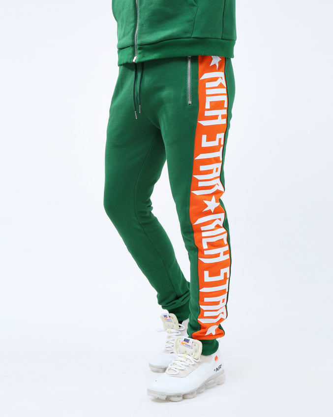 Big Side Logo Pants - Color: OLIVE