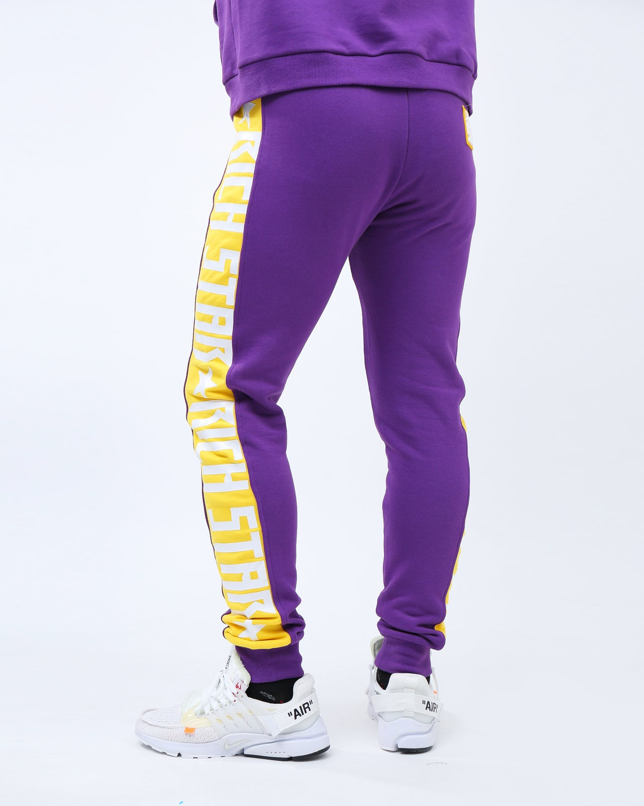 Big Side Logo Pants - Color: Purple