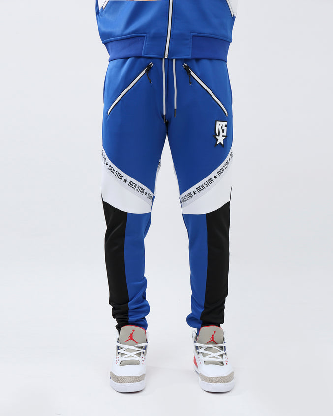 SLANT LOGO TRACK PANT - Color: ROYAL BLUE
