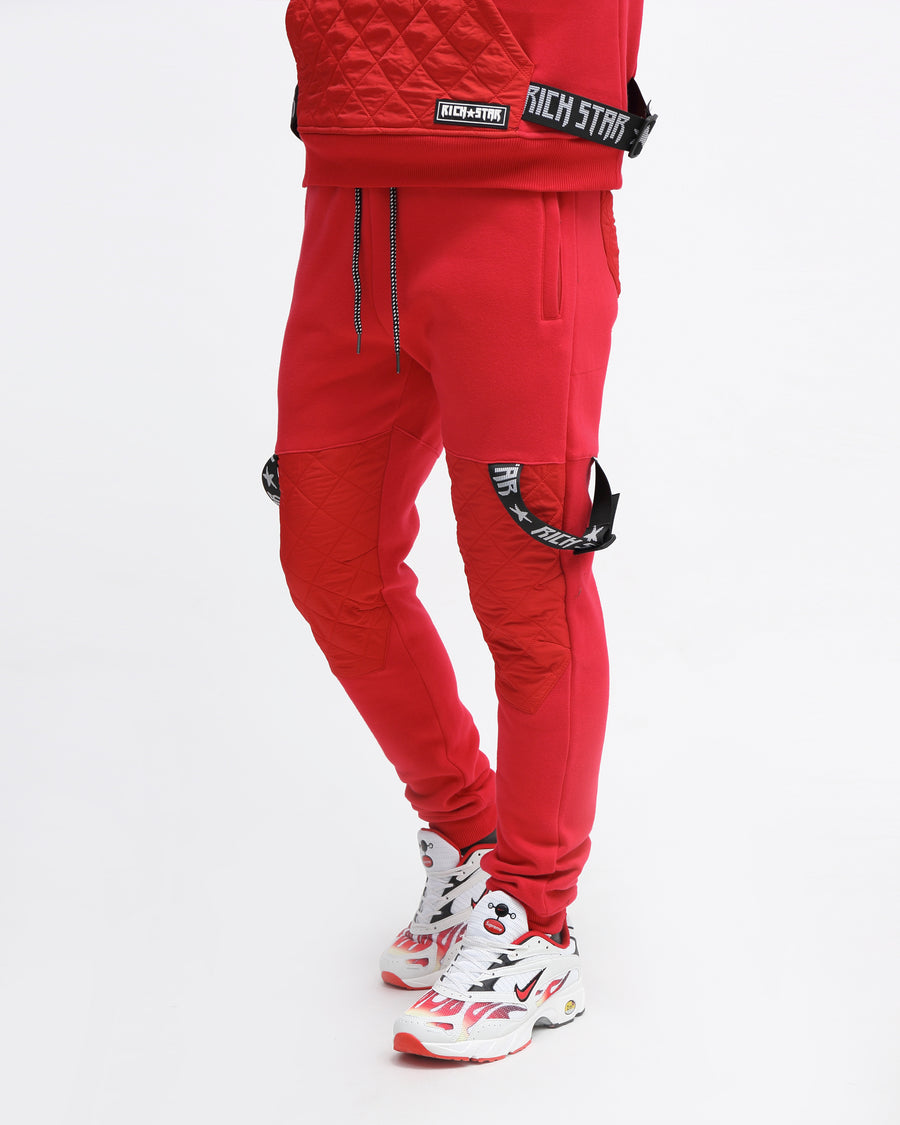 QUILTED STRAP JOGGER