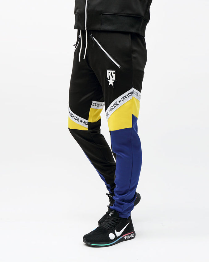 RICHSTAR SLANT LOGO TRACK PANT-COLOR: BLACK