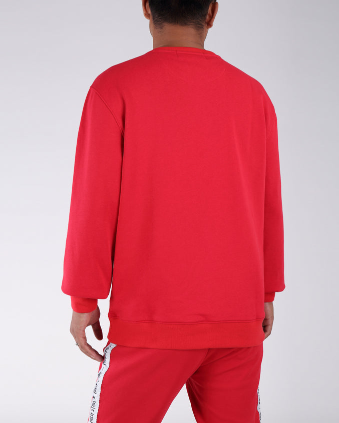 Colorful Rich Star Sweatshirt - Color: RED
