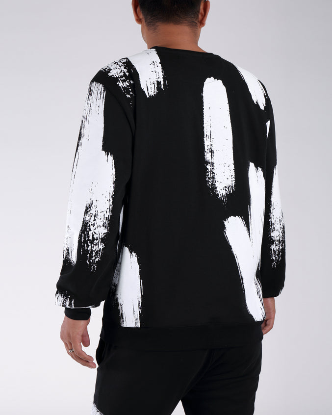 Painted Sweatshirt - Color: BLACK