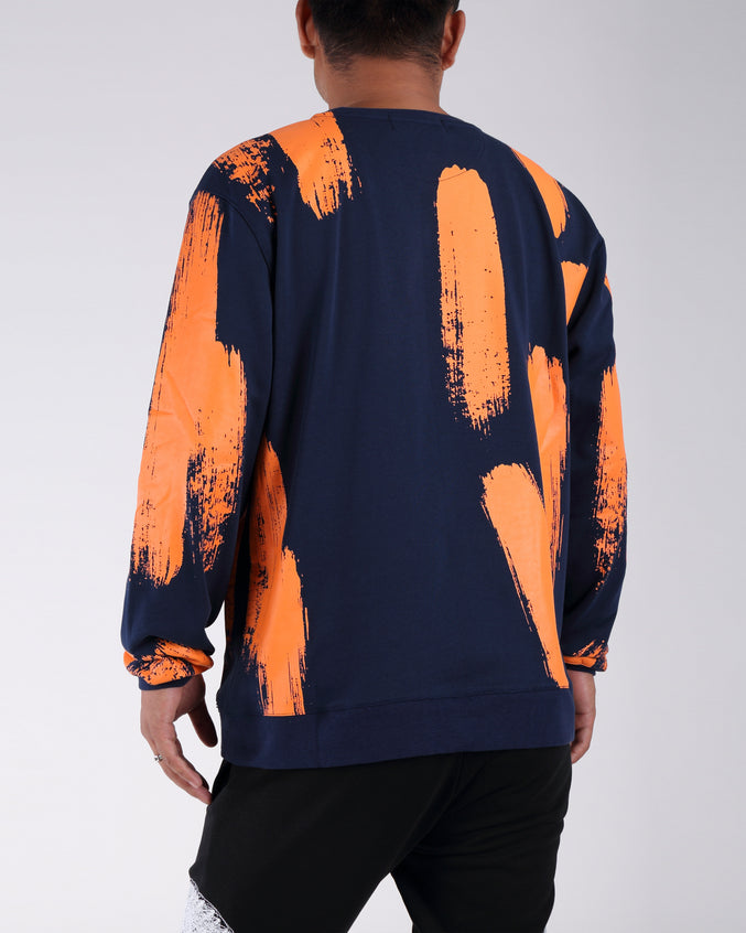 Painted Sweatshirt - Color: NAVY