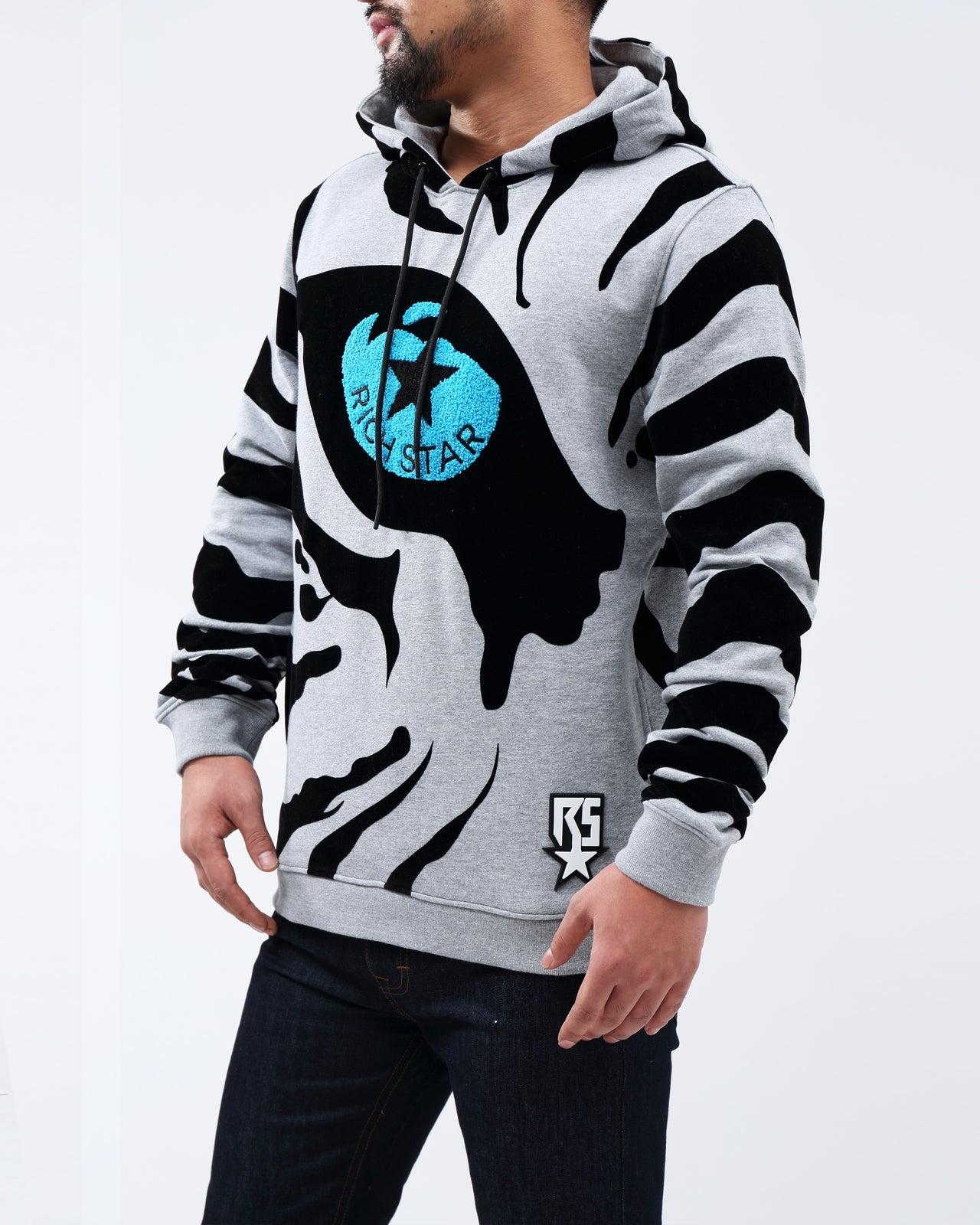 RS Eye Of the Tiger Hoody - Color: heather gray