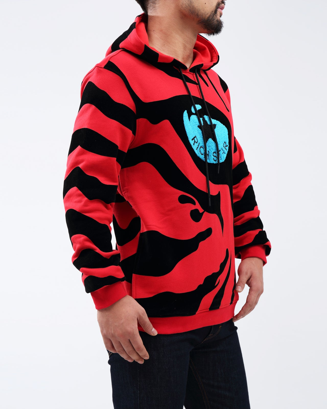 RS Eye Of the Tiger Hoody - Color: RED