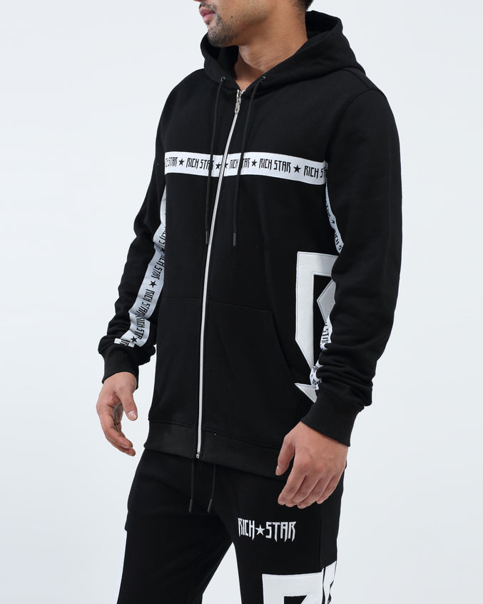 Side Star Hoody - Color: BLACK