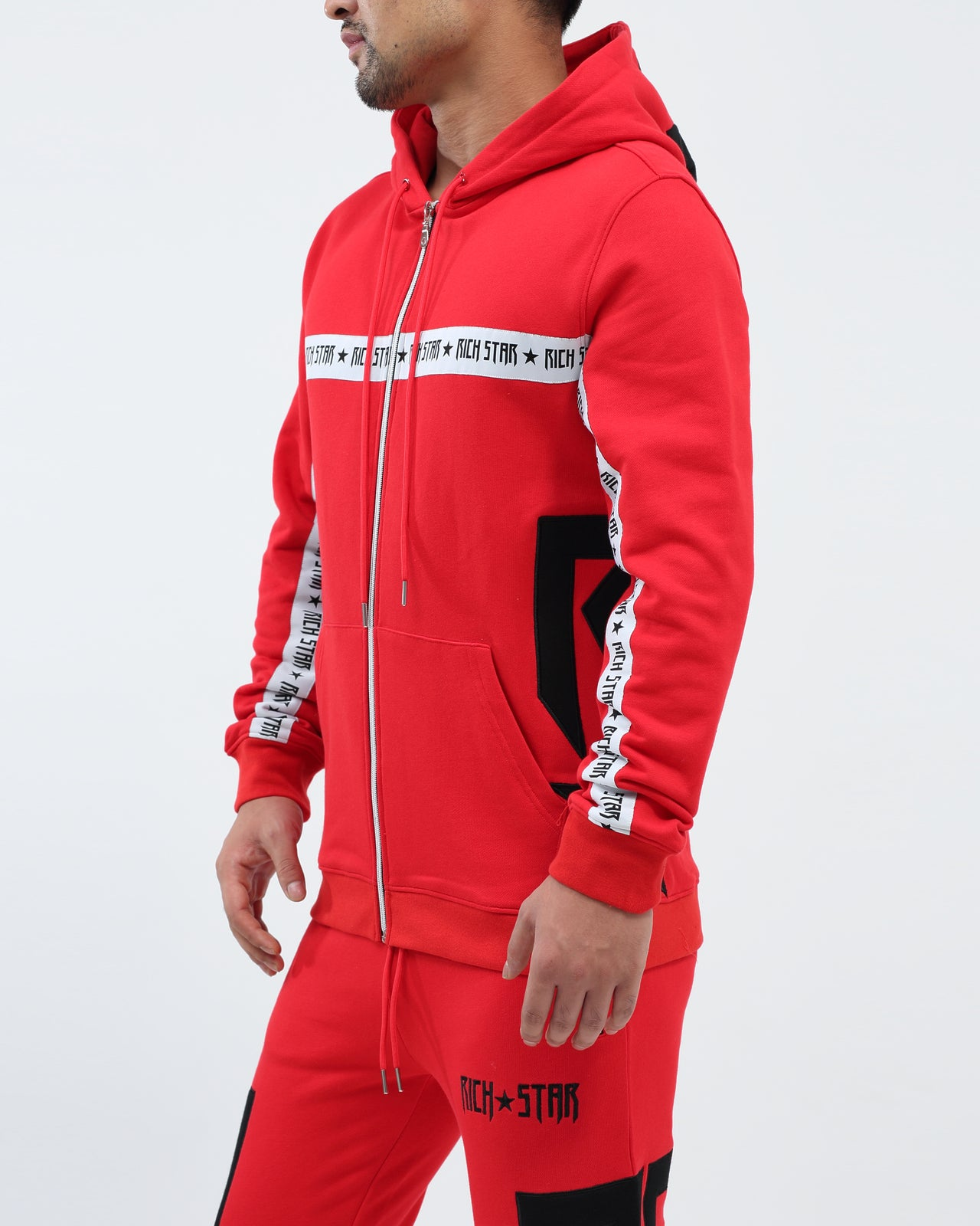 Side Star Hoody - Color: RED