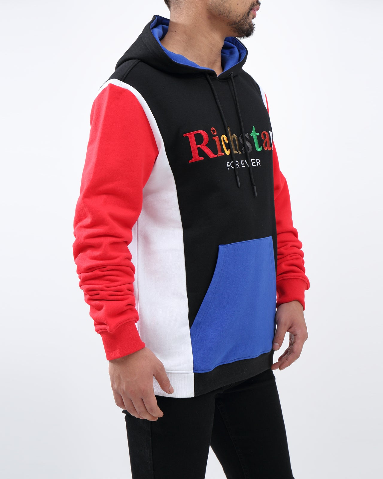 Rich Star Forever Pull Over Hoody - Color: BLACK