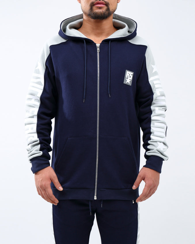 Big Side Logo Hoodie - Color: NAVY