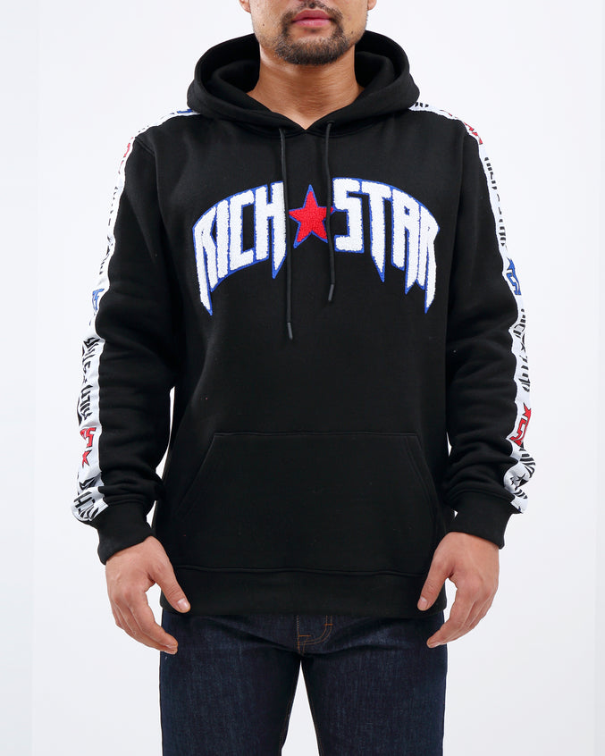RS FULL TAPE PO HOODY - Color: BLACK