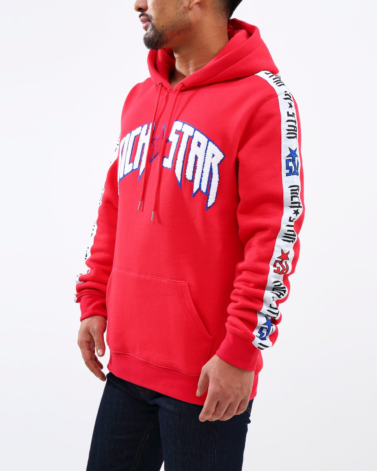RS FULL TAPE PO HOODY - Color: RED