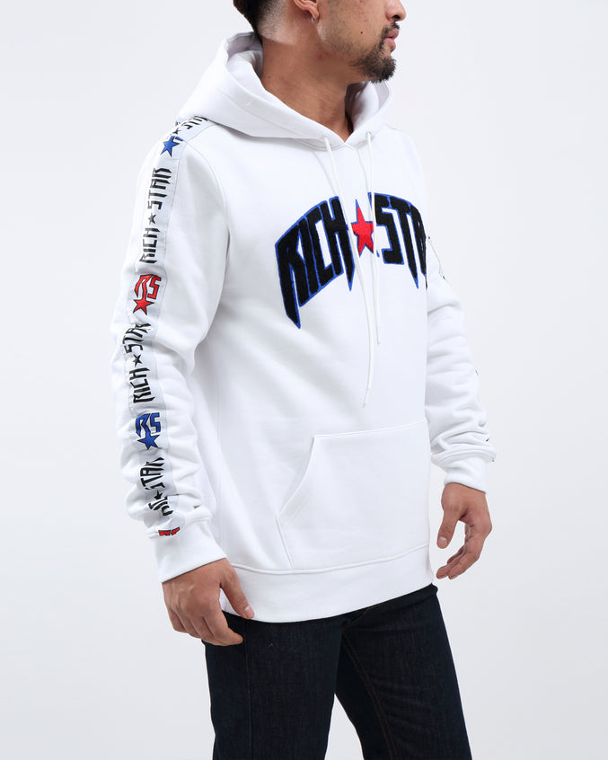 RS FULL TAPE PO HOODY - Color: WHITE