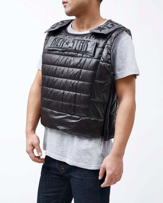 Rich Star Padding Vest - Color: BLACK