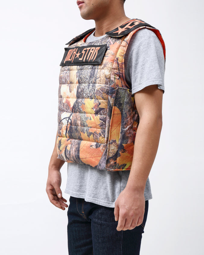 Rich Star Padding Vest - Color: BROWN