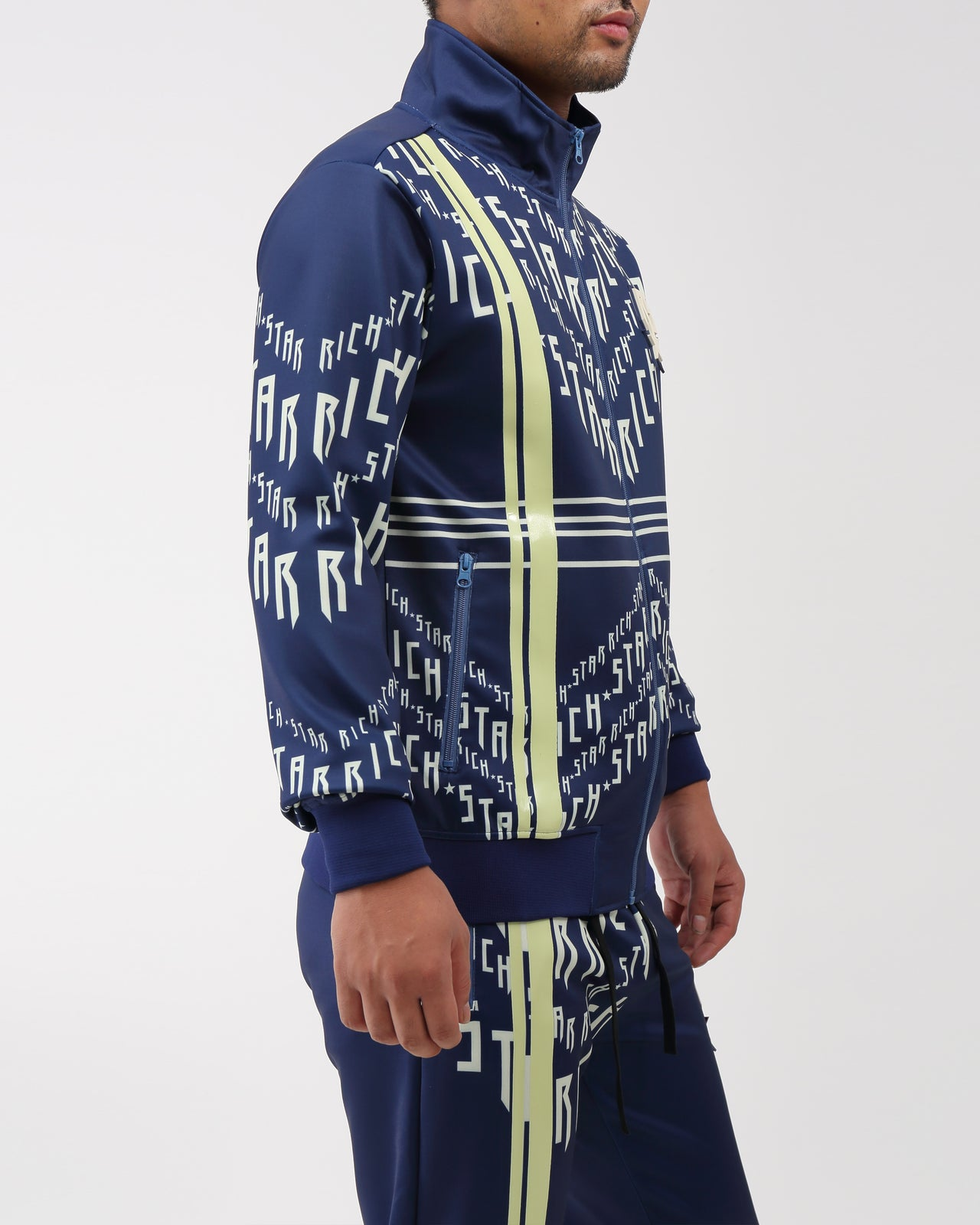 RS Logo Chevron Track Jacket - Color: NAVY