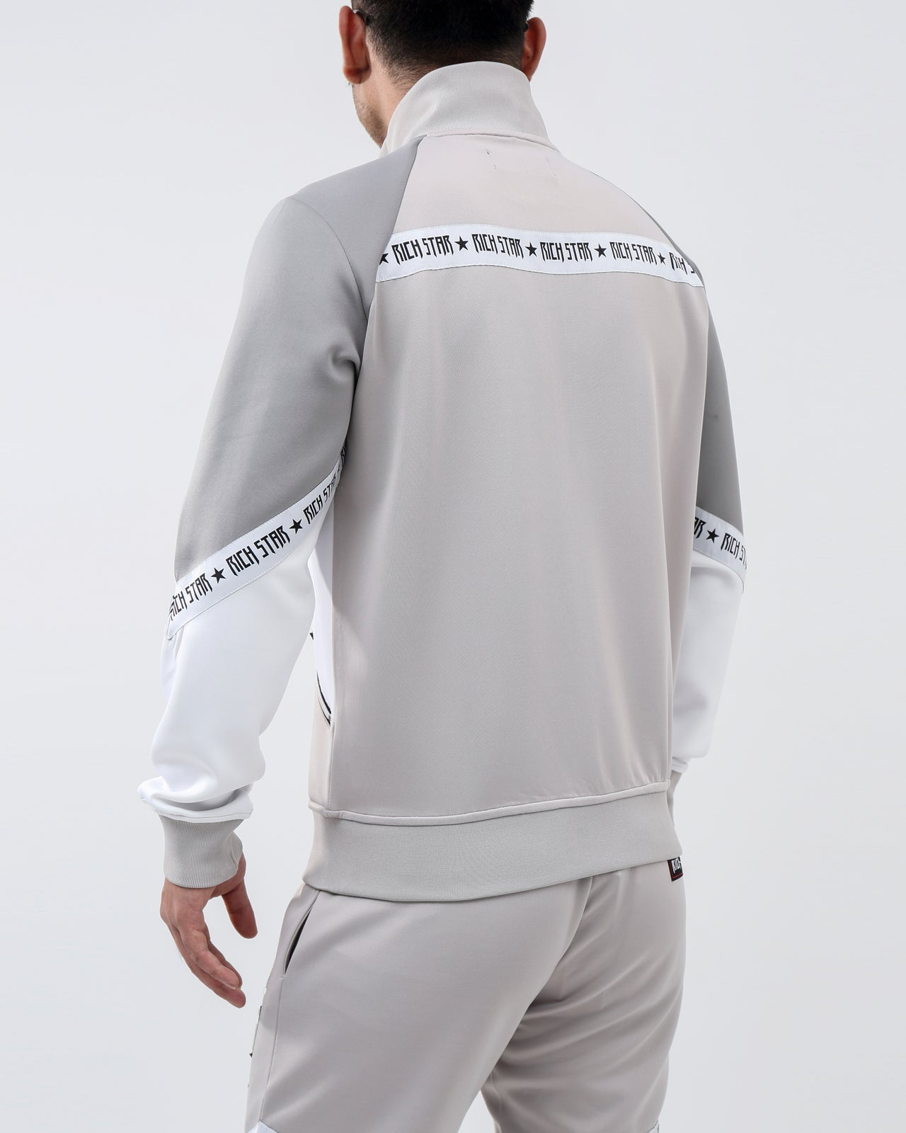 SLANT LOGO TRACK JACKET - Color: GRAY
