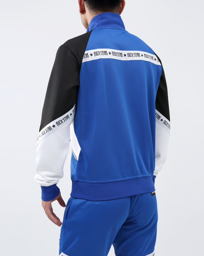 SLANT LOGO TRACK JACKET - Color: ROYAL BLUE