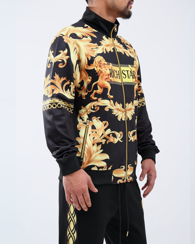 GOLDEN LION TRACK JACKET - Color: BLACK