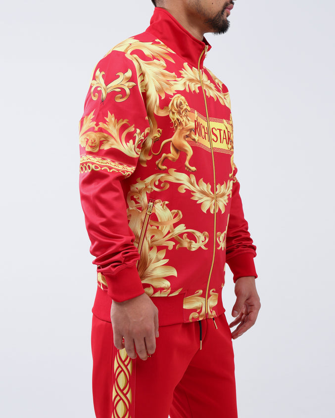 GOLDEN LION TRACK JACKET - Color: RED