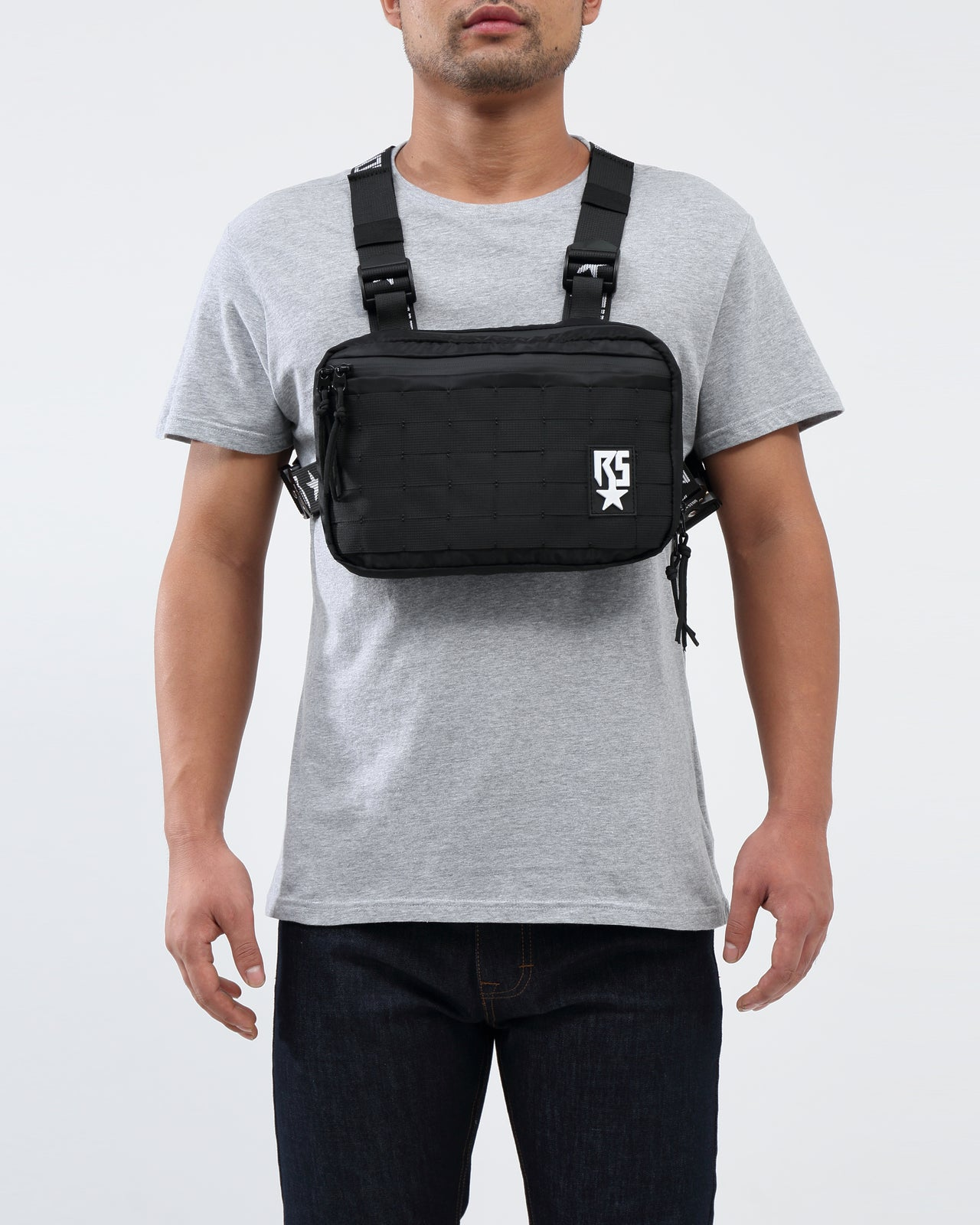 RS LOGO CHEST RIG BAG - Color: Black