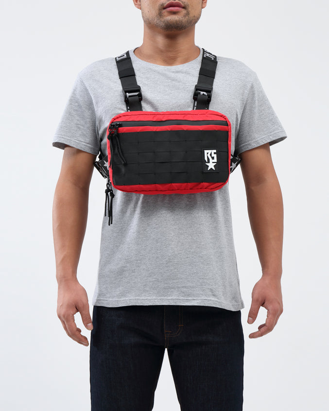 RS LOGO CHEST RIG BAG - Color: Red