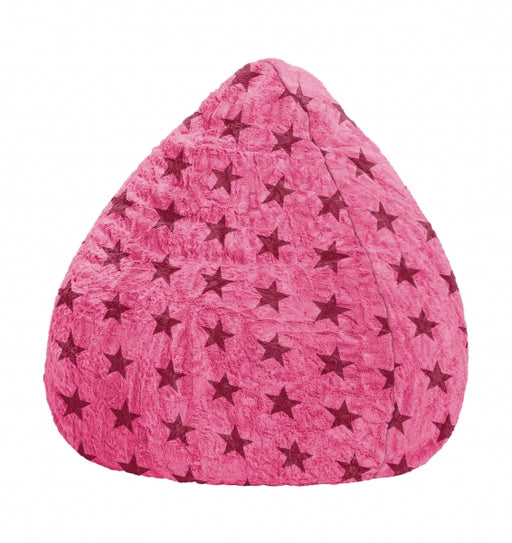 Sitting Point Sitzsack Bean Bag Fluffy Stars XL - pink