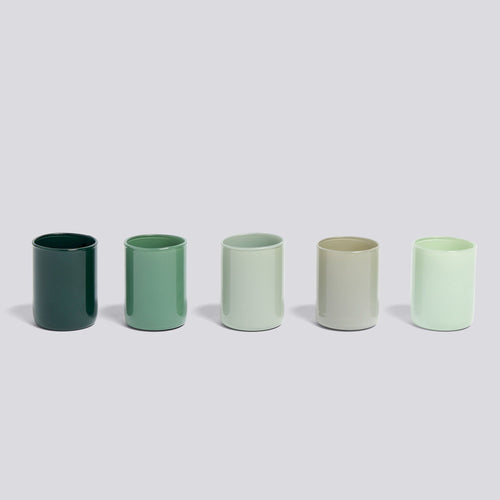 Spot Votive, Set of 5, Green