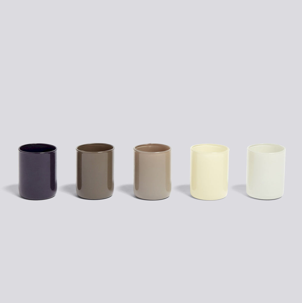 Spot Votive, Set of 5, Grey