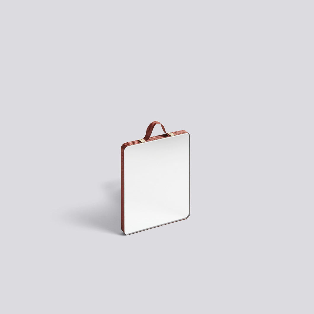 Ruban Mirror - Rectangle - Small, Rust