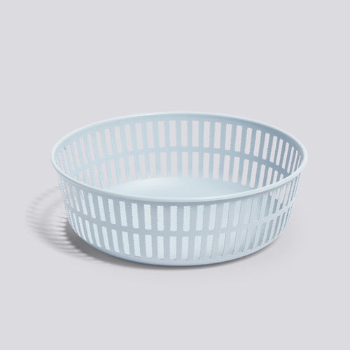 Panier Basket, Round, Light Blue