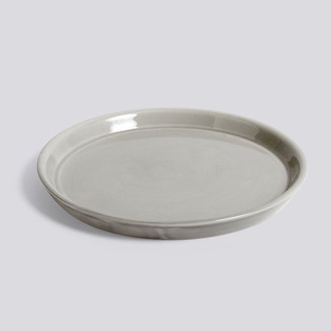 Botanical Saucer, large, Light Grey