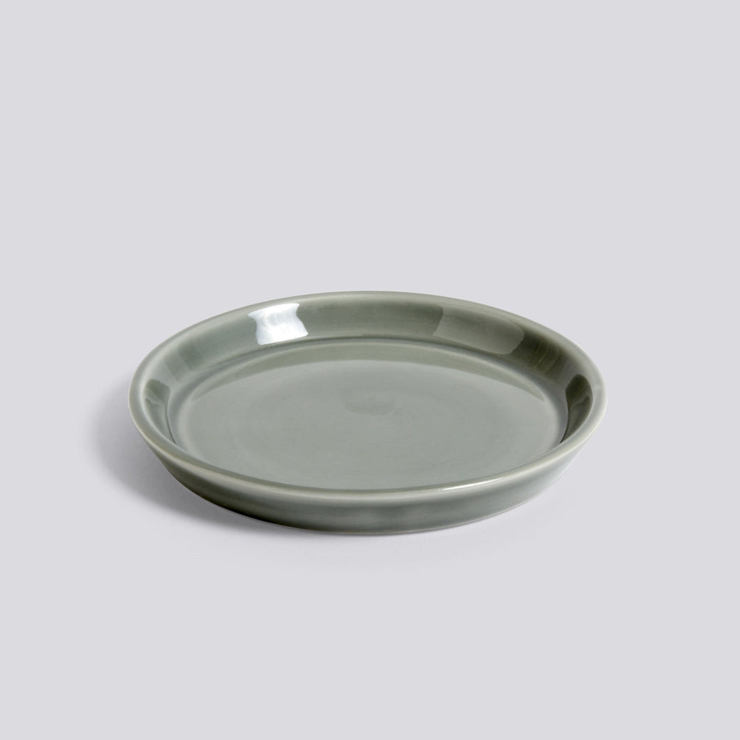 Botanical Saucer, medium, Dusty Green