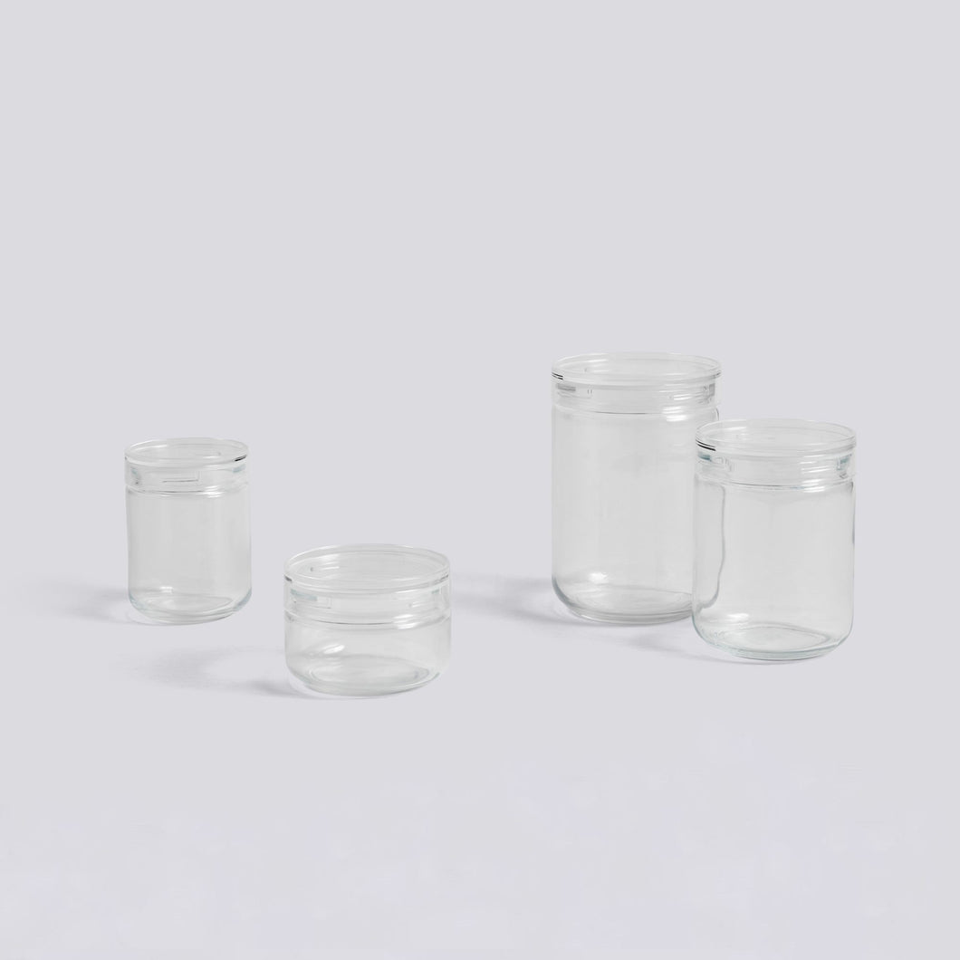 Japanese Glass Jar - Large/Clear
