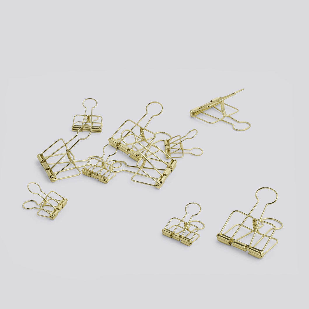Outline Paper Clips - Golden, 10pcs