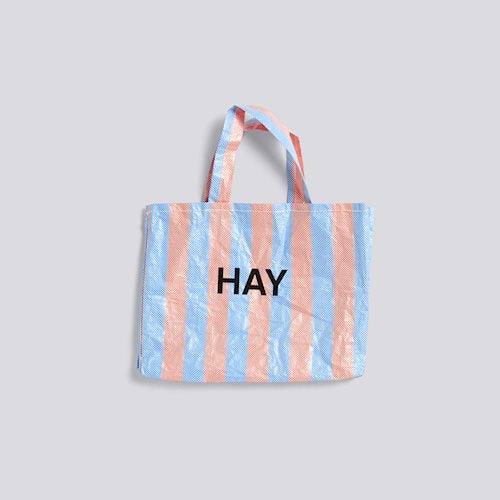 Candy Stripe Shopper-Medium Blue/Orange