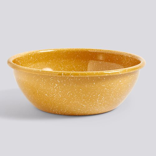 Enamel Salad Bowl, Dust Mustard