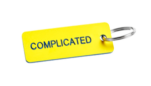 RO Key Tag Complicated - Yellow