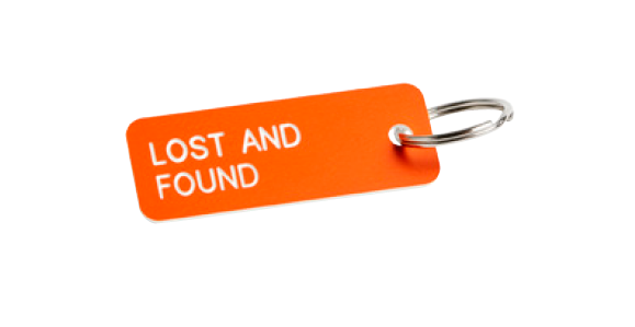 RO Key Tag Lost and Found - Orange