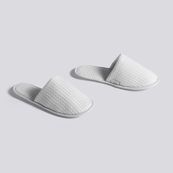 Waffle Slippers - Grey