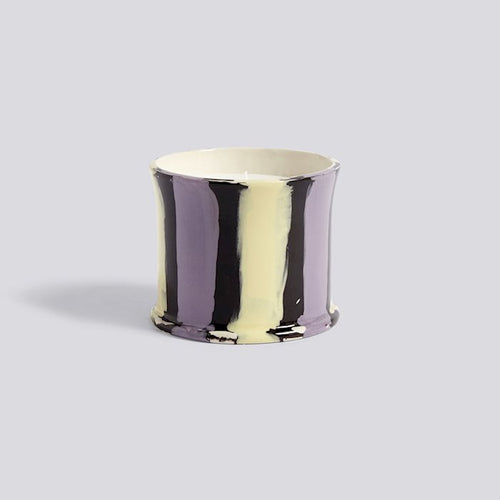 Stripe Scented Candle Fig Leaf